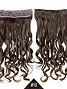 22 inch Syntetisk HÅRFÖRLÄNGNING Klämmor Klassisk Vågigt Klämma in Klämma In/På Long Wavy Curly Synthetic Hair Clip In Synthetic Hair