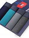 SHINO® Bumbac / Fibră de Carbon de Bambus Chiloți Boxeri Bărbătești 4 / cutie-F005-F