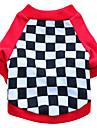Pisici / Câini Tricou Roșu / Negru Îmbrăcăminte Câini Vara / Primăvara/toamnă Geometic Modă