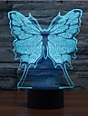 fluture touch dimming 3d condus lumina de noapte 7colorful atmosfera de decorare lumina noutate lumina de iluminat