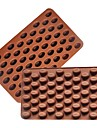 حبوب القهوة 3D 55 تجويف القهوة الفول شكل الشوكولاته العفن سيليكون قالب الشوكولاتة