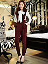pantaloni slim solide pentru femei dabuwawa lui, vintage / strada chic / sofisticat