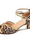 Latin / Modern-Pantofi de dans(Leopard) -Personalizabili-Damă