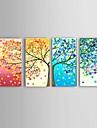 HANDMÅLAD Abstrakt Landskap Stilleben Blommig/Botanisk fantasi Horisontell, Europeisk Stil Moderna Parfymerad Hang målad oljemålning