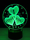 acrylique 7 couleurs charges changement usb coeur 3d je te aime conduit la lumiere de nuit avec 3d decoration lumineuse lampe de table