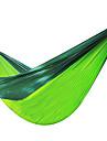Campinghammock Utomhus Fuktighetsskyddad, Väl ventilerad, Ultra Lätt (UL) Nylon för Jakt / Camping / Fiske - 2 personer Grön / Gul /