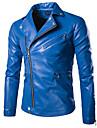 Bărbați Regular Jachetă Zilnic Simplu Casual,Mată Iarnă Toamnă PU