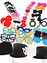 photomaton props 44 pcs / definir photomaton pour l\'anniversaire de mariage photo de fete stand accessoires lunettes levre moustache sur