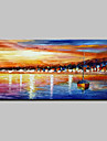 Pictat manual Abstract Peisaj Peisaje Abstracte  Orizontal,Modern Un Panou Canava Hang-pictate pictură în ulei For Pagina de decorare
