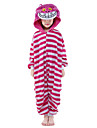 Pyjamas Kigurumi Chat Combinaison de Pyjamas Costume vison de velours Rose Cosplay Pour Enfant Pyjamas Animale Dessin anime Halloween