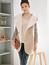 Femei Palton Plus Size Șic Stradă,Mată Manșon Lung Iarnă Capișon-Alb / Gri / Multi-color Gros Bumbac