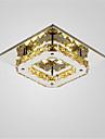 12w kristall ledde hallway taklampa trappa belysning restaurang flush mount rostfritt stål