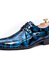 Bărbați Pantofi Piele / Imitație de Piele Primăvară / Vară / Toamnă Confortabili / Pantofi formale Oxfords Plimbare Gri / Maro / Albastru / Party & Seară / Imprimarea Oxfords