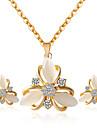 Pentru femei Set bijuterii - Include Seturi de bijuterii de mireasă Auriu Pentru Nuntă Petrecere