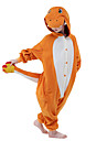 Kigurumi-pyjamas drake Onesie-pyjamas Kostym Sammet Mink Orange Cosplay För Barn Pyjamas med djur Tecknad serie halloween Festival /