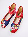 Pantofi pentru femei - Denim - Toc Plat - Mary Jane - Pantofi Fără Toc - Casual - Albastru