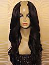Äkta hår Peruk Brasilianskt hår Vågigt Densitet 100 % handbundet Afro-amerikansk peruk Naturlig hårlinje Lång Dam Äkta peruker med hätta