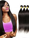 4 Buendel Brasilianisches Haar Glatt Klassisch 10A Unbehandeltes Haar Menschenhaar spinnt 8-26 Zoll Menschliches Haar Webarten Haarverlaengerungen / Gerade