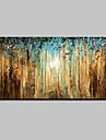 HANDMÅLAD Abstrakt Landskap Abstrakta landskap Blommig/Botanisk Horisontell, Moderna Duk Hang målad oljemålning Hem-dekoration En panel