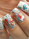 1uppsättning nagel konst Sticker Vatten Transfer Dekaler Blomma skönhet Kosmetisk nagel konst Design