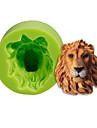 Lion cap silicon mucegai tort decorare coacere sugarcraft instrumente polimer lut fimo fondant face culoare aleatoriu
