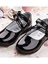 Fete Pantofi Flați Primăvară / Toamnă Mary Jane Piele Originală Rochie Toc Plat Sclipici Strălucitor Negru / Roșu / Alb Plimbare