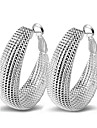 Pentru femei Plastic Cercei Rotunzi - Sexy / Declarație / Modă Argintiu Circle Shape cercei Pentru Nuntă / Petrecere / Zilnic
