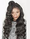Äkta hår Hel-spets Peruk Vågigt Densitet 100 % handbundet Afro-amerikansk peruk Naturlig hårlinje Korta Mellan Lång Dam Äkta peruker med