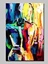 HANDMÅLAD Abstrakt Människor Vertikal, Moderna Duk Hang målad oljemålning Hem-dekoration En panel