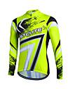 Fastcute Maillot de Cyclisme Homme Femme Enfant Unisexe Manches Longues Velo Shirt Maillot Hauts/Top Garder au chaud Sechage rapide Zip