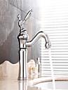 robinets d\'evier, contemporain avec du chrome unique manche un trou, fonctionnalite pour entraxe