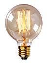 G80 E27 40W glödlampa vintage lampa för hushålls bar kafé hotell (AC220-240V)