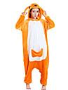 Pijama Kigurumi Cangur Pijama Întreagă Costume Lână polară Portocaliu Cosplay Pentru Sleepwear Pentru Animale Desen animat Halloween