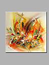 Peint a la main Abstrait A fleurs/Botanique Carre, Classique Moderne Toile Peinture a l\'huile Hang-peint Decoration d\'interieur Un Panneau