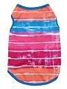 Gato Cachorro Camiseta Colete Roupas para Caes Riscas Rosa Azul Algodao Ocasioes Especiais Para Primavera & Outono Verao Inverno Homens Mulheres Aniversario Ferias Casual / A prova de Vento
