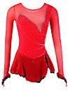 Femme Robe de Patinage Artistique Robe de Patinage Manches Longues Robes Vestimentaire Respirable Patinage sur glace Patinage Artistique