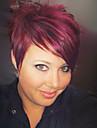 Human Hair Capless Wigs Human Hair Straight Pixie Cut / With Bangs Side Part Short Wig Women\'s