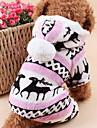 Chat Chien Pulls a capuche Combinaison-pantalon Pyjamas Vetements pour Chien Mignon Garder au chaud Noel Renne Gris Marron Bleu Rose