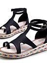 Dame Sandale Vară Platforme Cu Inel pe Deget PU Outdoor Casual Platformă Creepers Cataramă Curea Împletită Negru Maro Verde Alb Altele