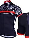 Cykeltröja med shorts Herr Kortärmad Cykel Klädesset Snabb tork Anatomisk design UV-Resistent Bärbar Andningsfunktion 3D Tablett