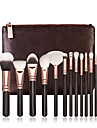 15 Makeup Brush Set Nylon Portable Professional Wood Eye Face Lipstick Eyebrow Eyeliner EyeShadow Bronzer Highlighter Blush Concealer