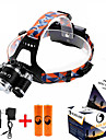 ZQ-G808 Headlamp Straps Headlight LED Cree® XM-L T6 1 Emitters 8500LM 4 Mode Adjustable Focus Dimmable Anglehead Camping / Hiking / Caving Everyday Use Hunting