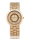 Pentru femei Ceasuri din Cristal Ceas de Mână Ceas La Modă Quartz / Ceas Casual Aliaj Bandă Casual Elegant Cool Argint Auriu Roz auriu
