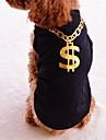 Pisici Câini Tricou Îmbrăcăminte Câini Vara Primăvara/toamnă Literă & Număr Modă Negru Mov Trandafiriu