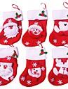 12pcs Crăciun stocking ornamente de Crăciun și decorațiuni de petrecere (stil aleator)