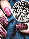 1 pcs Stempling plade Skabelon Negle kunst Manicure Pedicure Mode Daglig / Stempling Plate / Stål