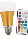 10W E26/E27 Bulb LED Glob A60(A19) 1 COB 900lm-1200lm lm Alb Cald / RGB Reglabil / Telecomandă / Decorativ V 1 bc
