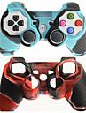etui de protection a double couleur de la couverture de peau de silicone pour PS3 Livraison gratuite controleur