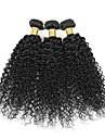 Brasilianskt hår Curly Weave Sexigt Lockigt Hårförlängning av äkta hår 3 delar 3 delar 0.3