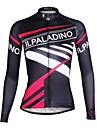 ILPALADINO Women\'s Long Sleeve Cycling Jersey Patterned Bike Jersey Top, Breathable Quick Dry Ultraviolet Resistant, Spring Summer Fall, 100% Polyester Terylene / Stretchy / Plus Size / Plus Size